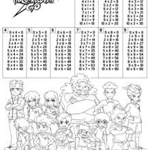 Tables de multiplication Inazuma Eleven
