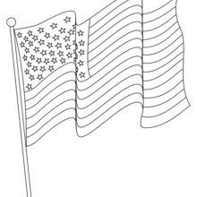 Coloriage : Le drapeau américain