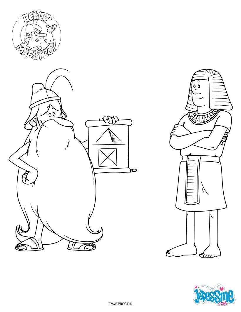 Coloriage : L'Egypte et les Pharaons