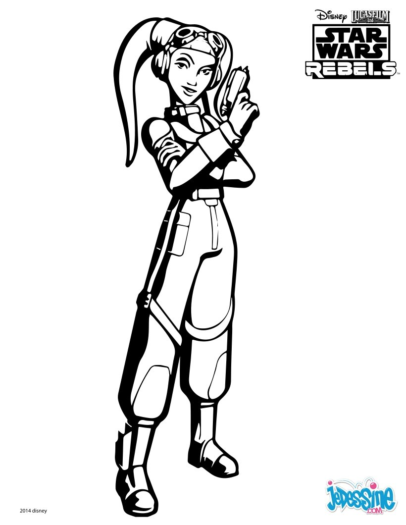 Disney Coloring Pages Star Wars : Coloriages star wars rebels hera fr hellokids