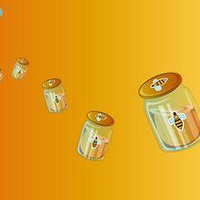 Fond d'écran : Pots de miel