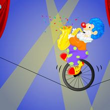 Clown funambule