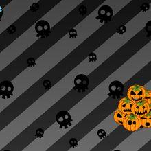 Crânes et citrouilles d'Halloween