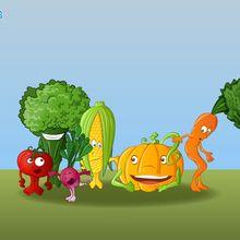 Fond d'écran : Réunion de légumes