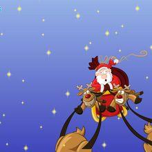 Fond d'écran : Traîneau du Père Noël