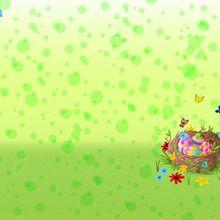 Fond d'écran : Nid de Pâques