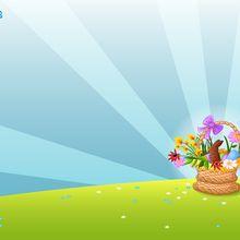 Fond d'écran : Panier de Pâques