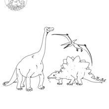 Coloriage : Dinosaures