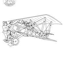 Coloriage : Les débuts de l'aviation