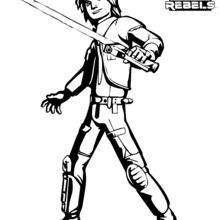 Coloriage Star Wars : Star Wars Rebels - Ezra