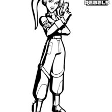 Coloriage : Star Wars Rebels - Hera