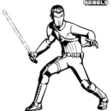 Coloriage Star Wars : Star Wars rebels - Kanan
