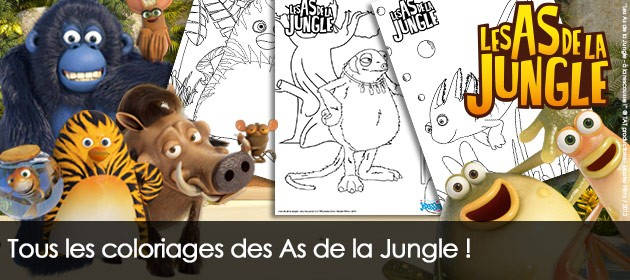 Coloriages Les As de la Jungle