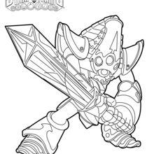Coloriage Skylanders : Kript King