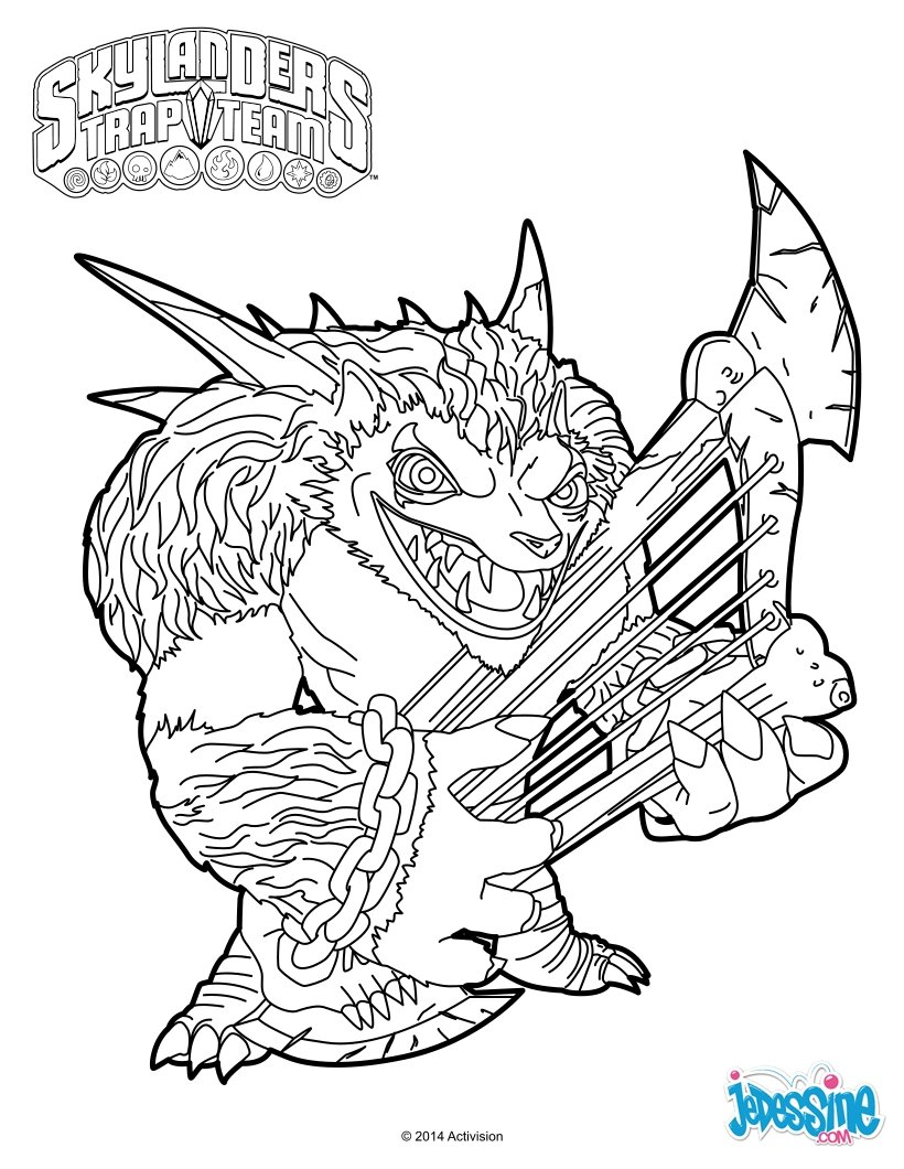 funnybone skylander coloring pages - photo#18