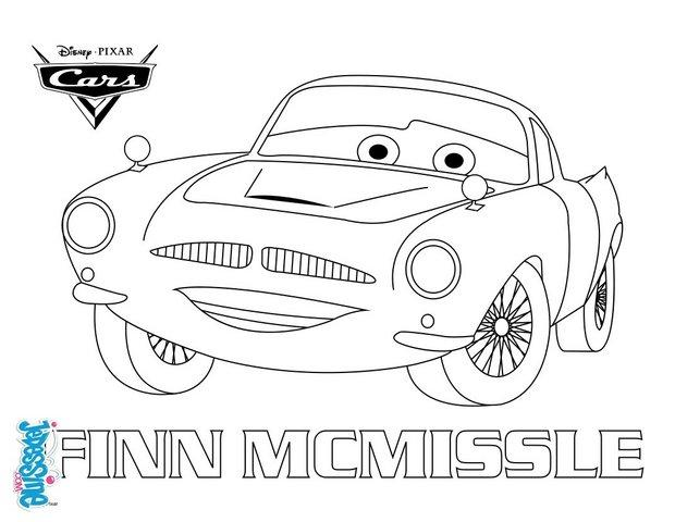 Coloriages cars 2 finn mc missile - Car coloriage ...