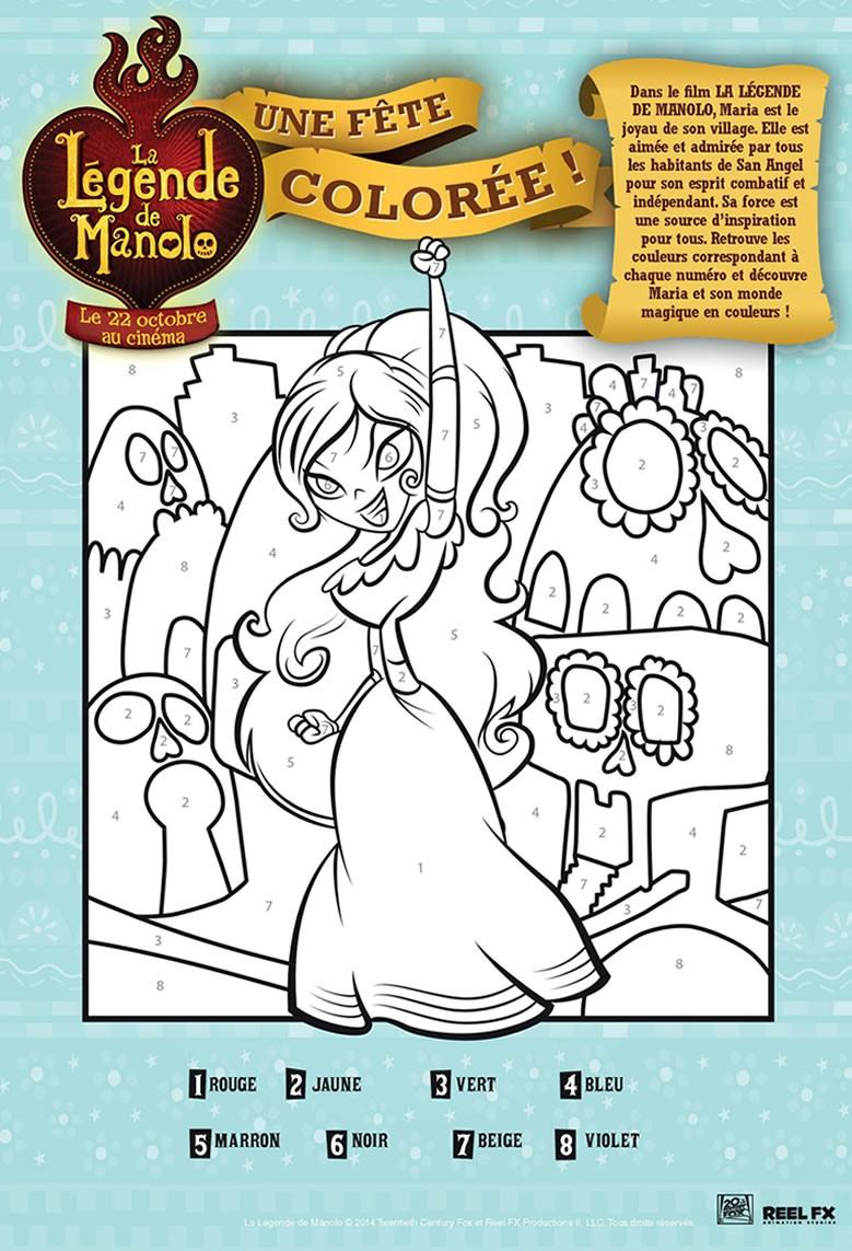 Coloriage Magique - La légende de Manolo
