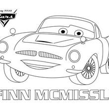 Coloriage Disney : Cars 2 - Finn Mc Missile