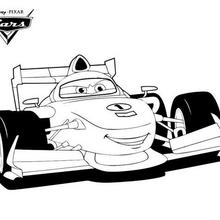 Coloriage Disney : Cars 2 - Francesco Bernoulli