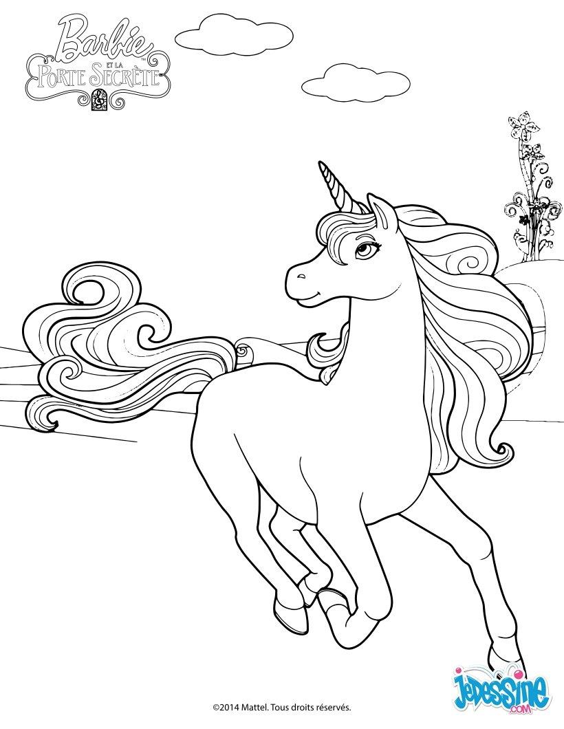 Coloriages la reine licorne - Coloriage de barbie ...