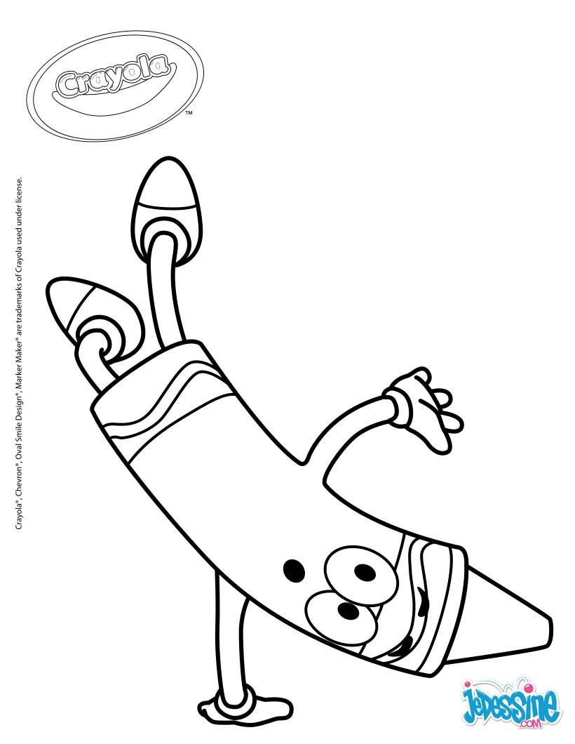Coloriages crayon crayola agile for Coloring pages of crayons