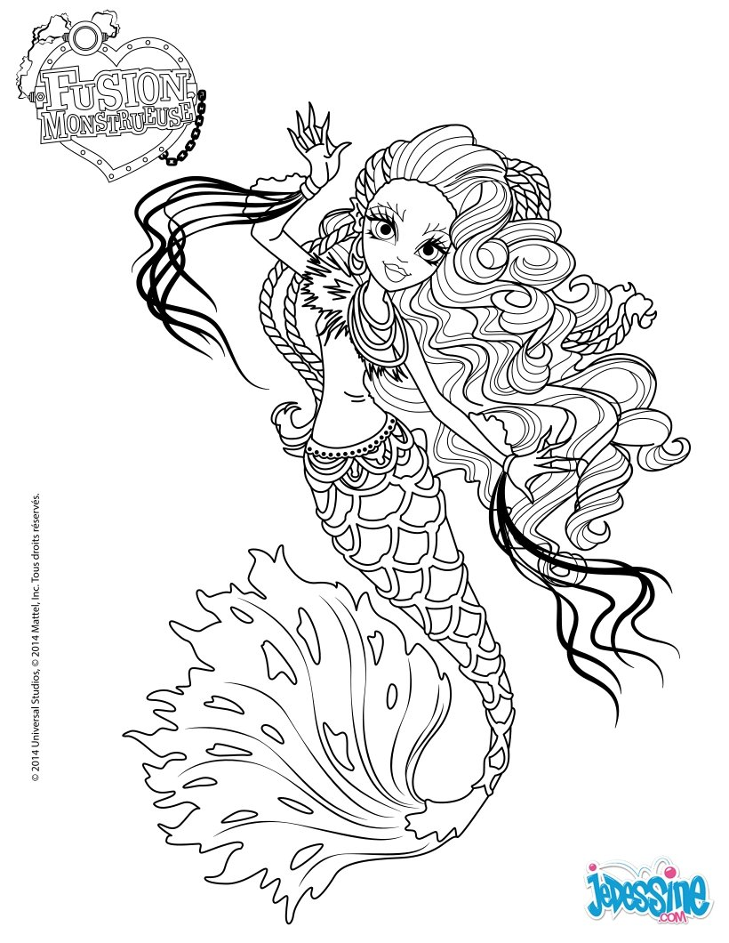 Coloriages sirena von boo - Coloriage de monster ...