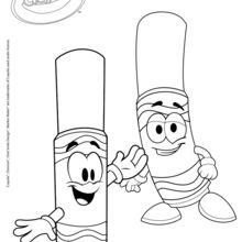 Coloriage : Feutres Crayola heureux