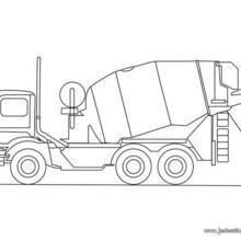 Coloriage d'un camion toupie