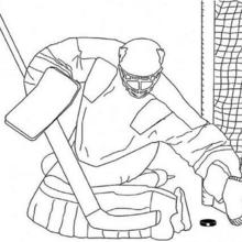 Coloriage d'un gardien de hockey