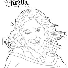 Coloriage : Le shooting photo de Violetta