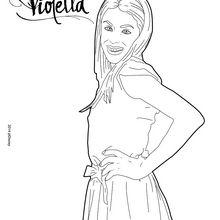 Coloriage : La belle Violetta
