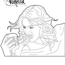 Coloriage : Violetta chante