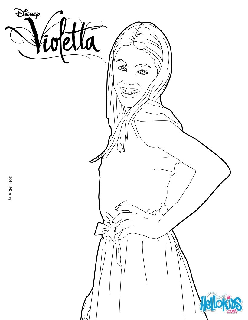 Coloriages la belle violetta - Coloriage top model a imprimer ...