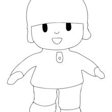 Coloriage : Garçon poupée