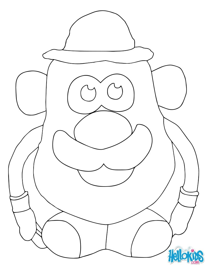 Coloriages monsieur patate - Mr patate dessin ...