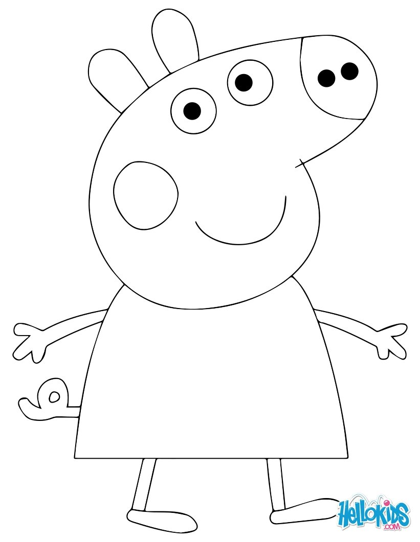 Dessin anime peppa pig for Peppa pig cake template free
