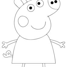 Coloriage : Peppa Pig