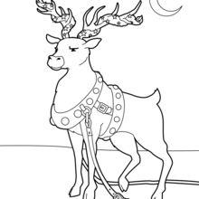 Coloriage : Renne décoré pour Noël
