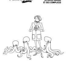 Coloriage : Institut Baigne, Octavius Baigne et ses complices