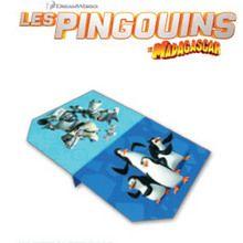 L'avion en papier des pingouins de Madagascar