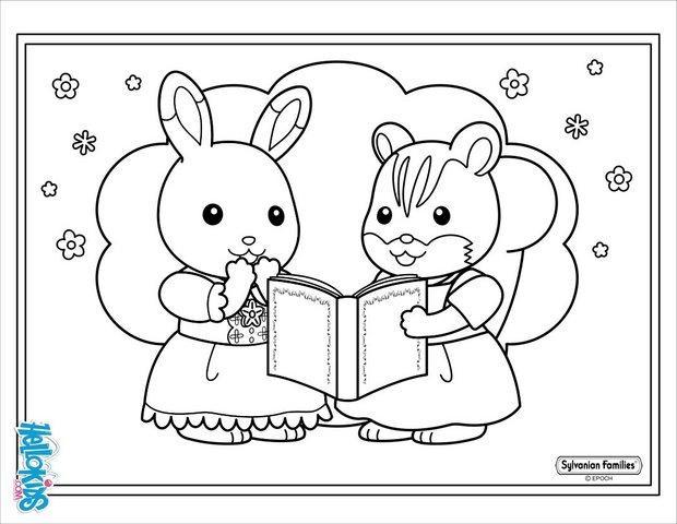 coloriage fille lapin et fille cureuil - Coloriage De Filles