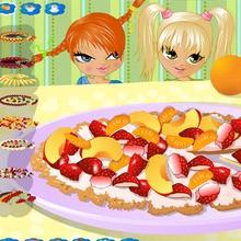 Réalise une pizza aux fruits