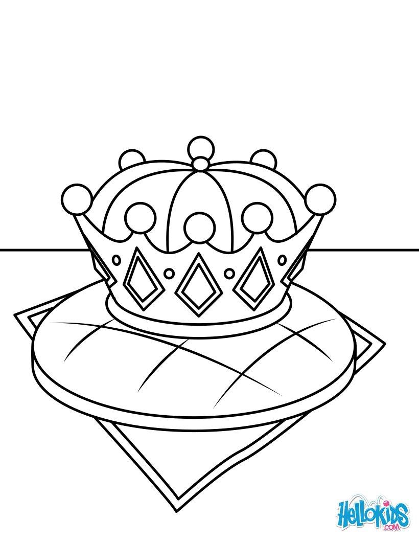 Coloriages galette des rois et couronne royale - Dessin de galette ...