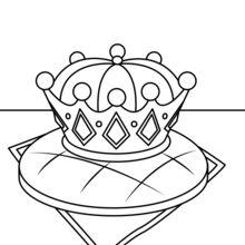 Coloriage : Galette des Rois et couronne royale