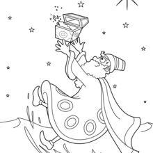Coloriage : Melchior le Roi mage