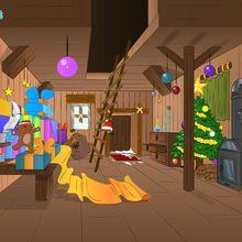 Fond d'écran : Maison du Père Noël