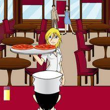 Jeu de serveuse dans un restaurant