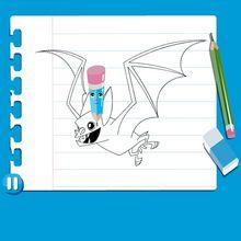Leçon de dessin : Dessiner une chauve-souris