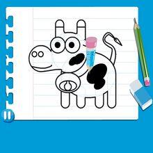 Leçon de dessin : Dessiner une vache