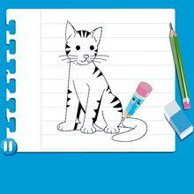 Leçon de dessin : Dessiner un chat